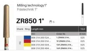Frézka ZR850 1°, 13 mm