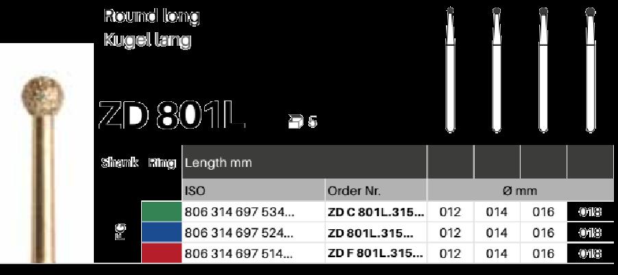 ZD diamant na zirkon oxid - 801L kulička - 5 ksZD diamant na zirkon oxid - 801L kulička - 5 ks