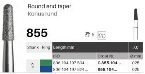 HP diamant - konus kulatý - 855