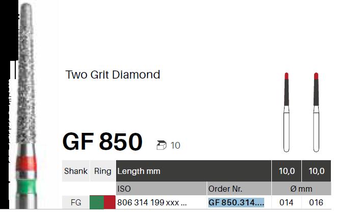 Diamanty TwoGrit - GF 850 - 5 ks