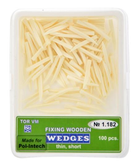 Klínky dřevěné bílé thin short
