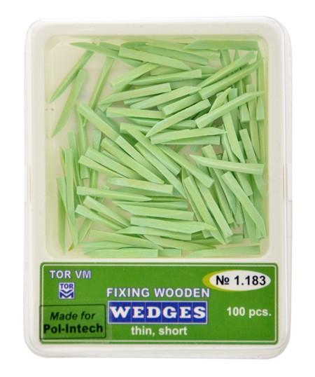 Klínky dřevěné zelené thin short