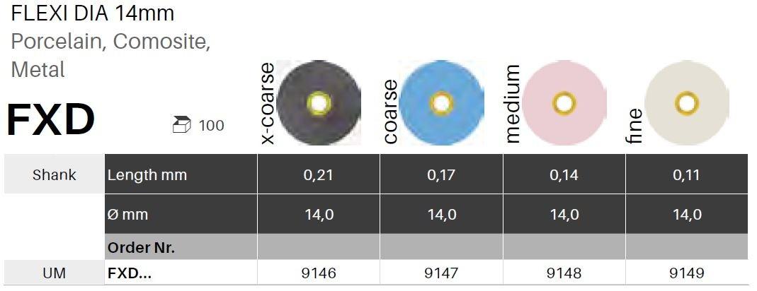 Leštící disky Flexi-D 14mm