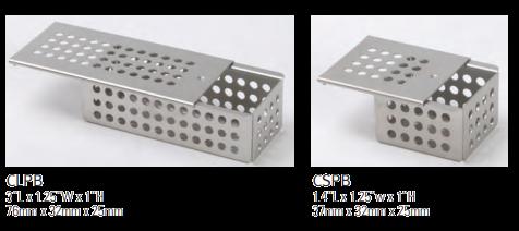 Krabičky z nerez oceli do kazet Nordent