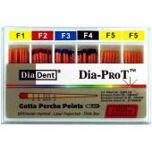 Dia-ProT - F2  speciální milimetrově značené gutaperčové čepy, bal. 60 ks