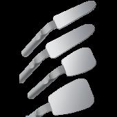 Zrcadlo FS Rhodium okluzní s rukojetí (74x106mm) obr.2