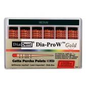 Dia-ProW Gold - Medium gutaperčové čepy, bal. 60 ks