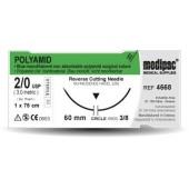 Polyamid - USP 6/0, EP 0.7, jehla řezná 3/8