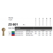 ZD diamant na zirkon oxid - 801 kulička - 5 ks