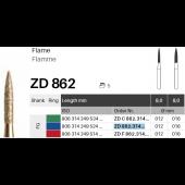 ZD diamant na zirkon oxid - 862 plamínek - 5 ks