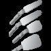 Zrcadlo FS Rhodium laterální oboustranné (42x128mm) obr.3