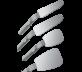 Zrcadlo FS Rhodium okluzní s rukojetí (66x95mm)