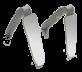 Zrcadlo FS Rhodium laterální se zalomenou rukojetí (42x128mm)